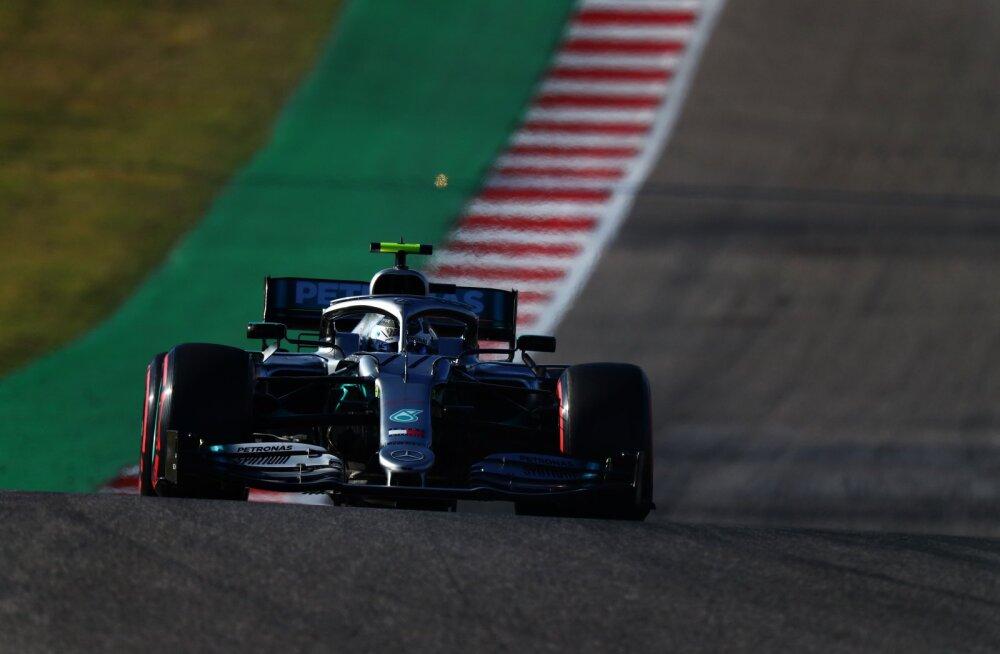 USA GP kvalifikatsiooni võitnud Bottas lõpetas Ferrari ilusa seeria