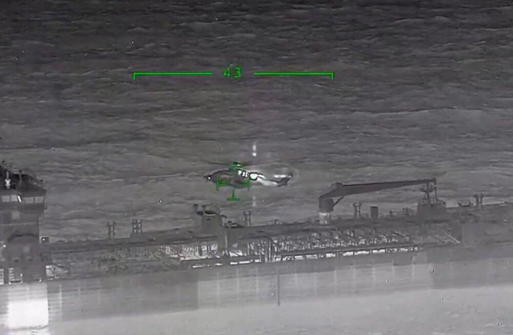 TERMOKAAMERA VIDEO   Öine laevahukk tõi kaasa ulatusliku merepäästeoperatsiooni, torm lõi päästeparve kummuli