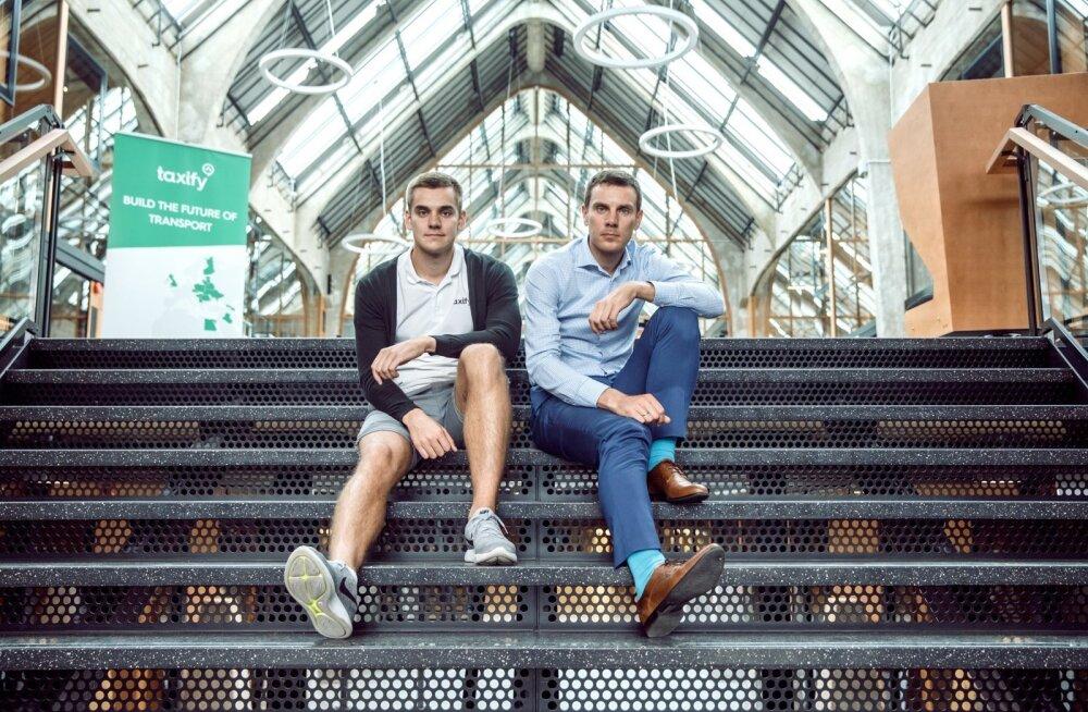 Taxify asutajad Markus (vasakul) ja Martin Villig saavad hiinlaste rahast uut hoogu, millega taksoteenust uutele turgudele viia.