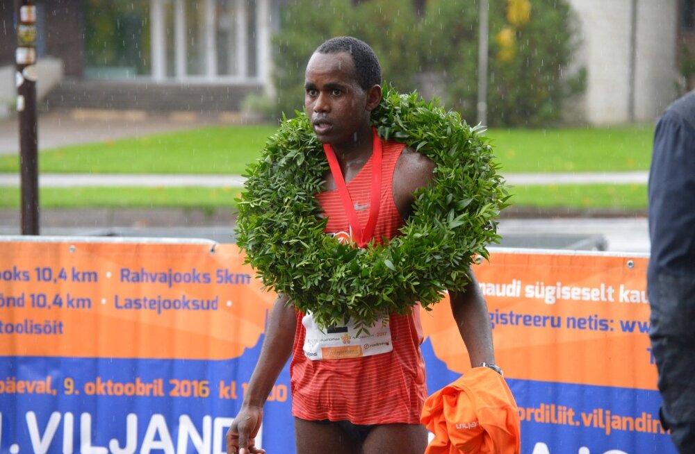 62. Viljandi linnajooksu võitja Ibrahim Mukunga Wachira