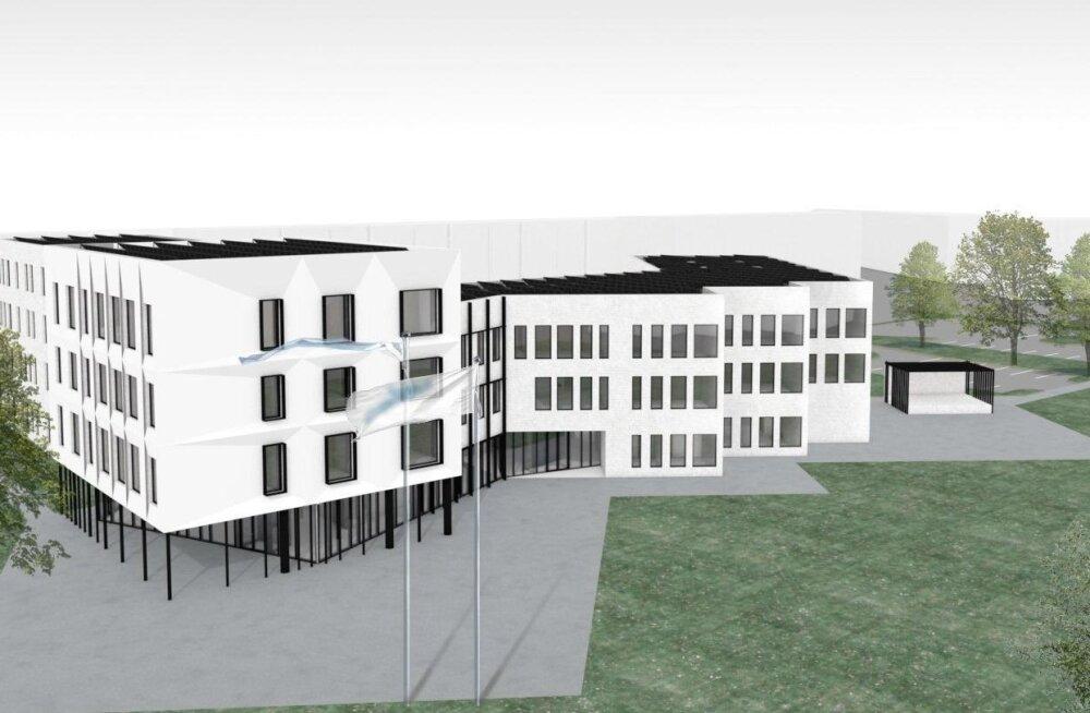 ФОТО: На месте бывшей гимназии Раннику построят новое здание для Коплиского дома молодежи и управы Пыхья-Таллинна