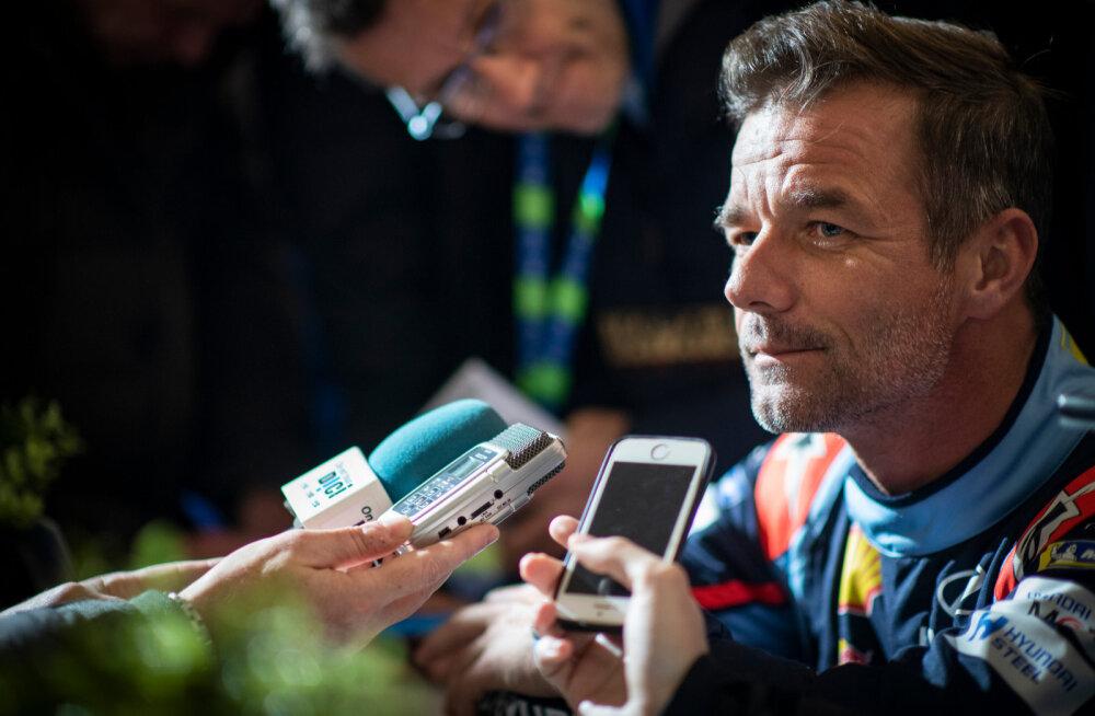 Sébastien Loeb keeras Rootsi ralliks valmistudes Hyundai üle katuse