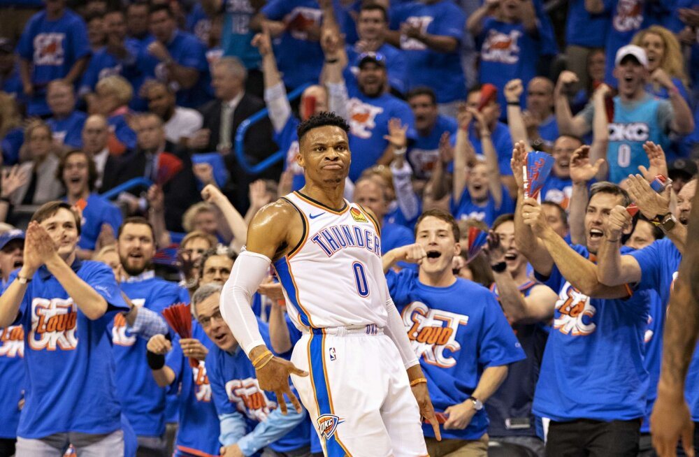 """Russell Westbrook viskab Oklahoma City Thunderi play-off'ist välja"""