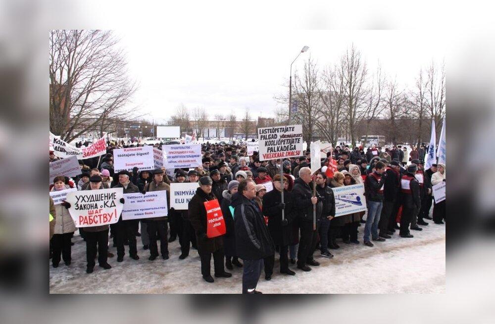 БОЛЬШАЯ ГАЛЕРЕЯ: В митинге трудящихся в Нарве приняли участие до 5000 человек