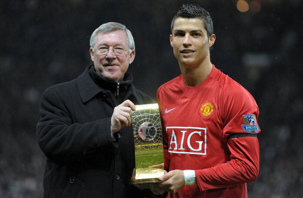 Alex Ferguson ja Cristiano Ronaldo aastal 2009
