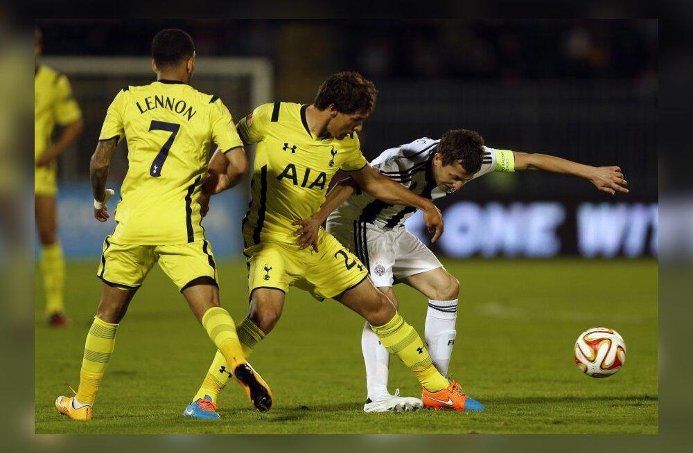 Euroopa liiga: Tottenham jäi Serbias kuivale, HJK kaotas Kopenhagenile