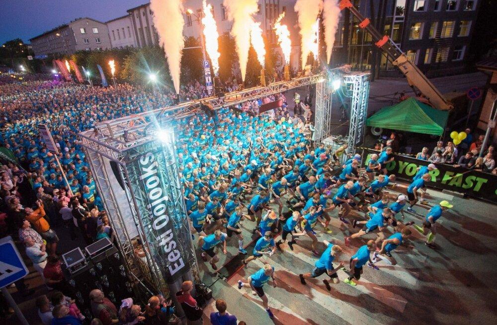 Laupäeval on oodata Baltikumi omanäolisema jooksuürituse erinevatele distantsidele üle 8000 osavõtja. Foto Ain Liiva