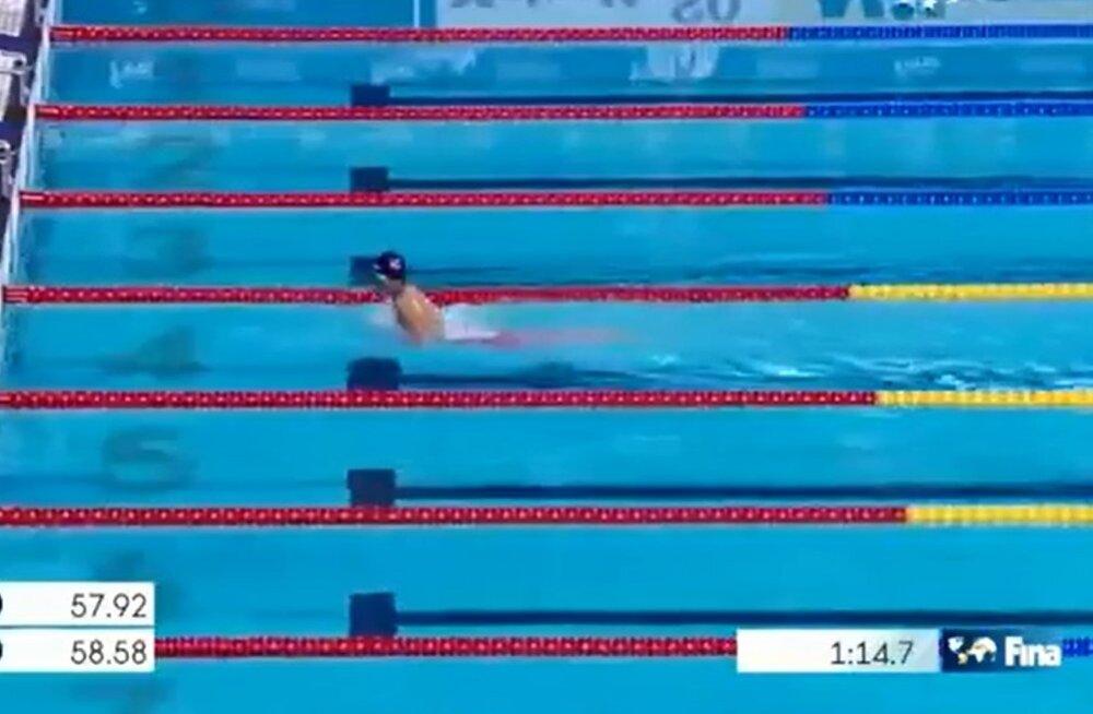 VIDEO: 12-aastane Myanmari ujuja võistles MM-il uhkes üksinduses
