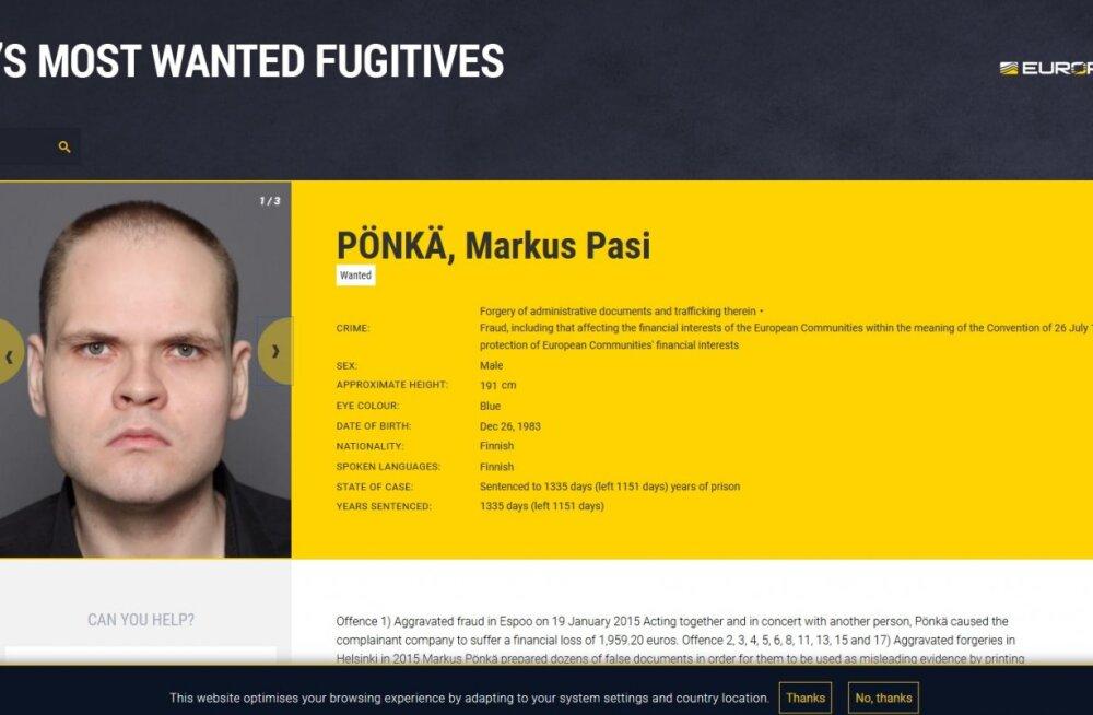 Soome vanglast jooksus olev Maakri tänava laibatükeldaja kanti Euroopa tagaotsitumate kurjategijate nimekirja