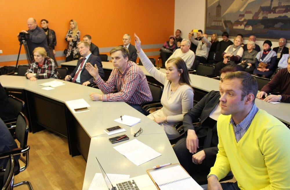 Umbusalduse avaldamine Narva linnavolikogu esimehele.