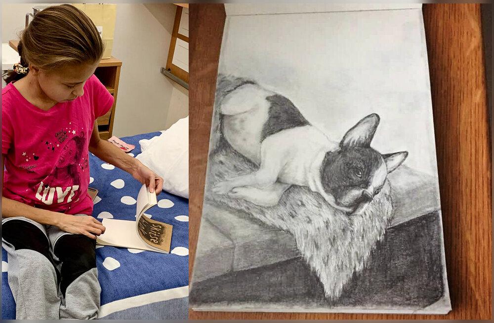 Rasket neeruhaigust põdev ja äsja uue neeru saanud 17-aastane Katerina paneb raviraha kokku saamiseks oma joonistuse oksjonile