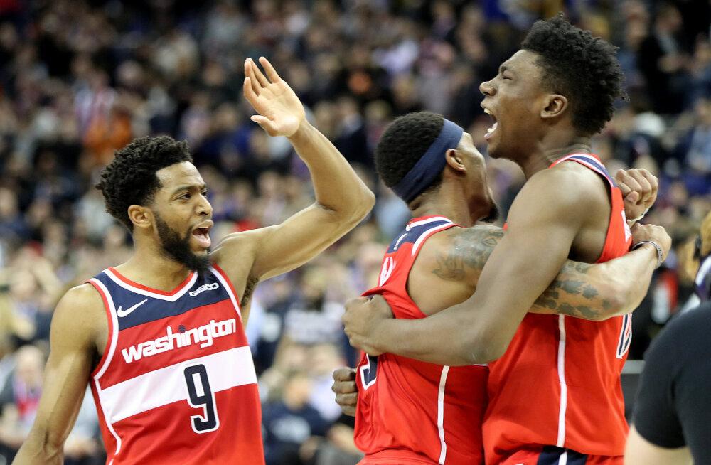 VIDEO | Wizards võitis Londonis viimase sekundi viskest Knicksi, Lakers alistas lisaajal Oklahoma City