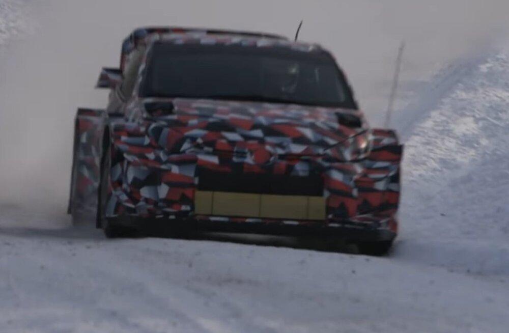 VIDEO | Toyota alustas uhiuue WRC-auto testimist