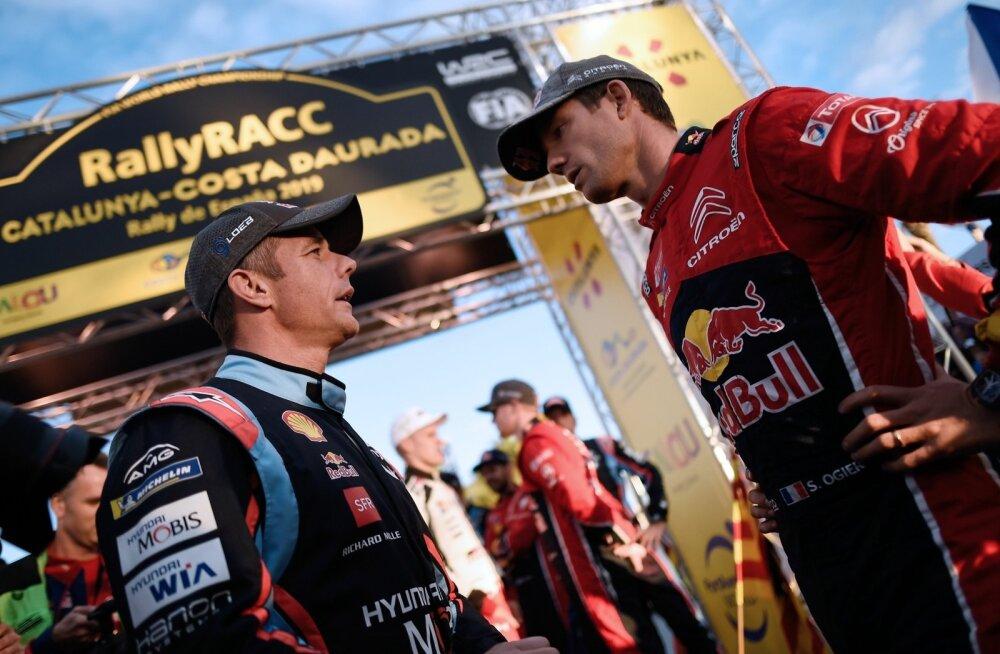 Sébastien Ogier (paremal) lõpetas Sébastien Loebi valitsemisaja, kuid ta ei saanud seda teha vahetus heitluses.