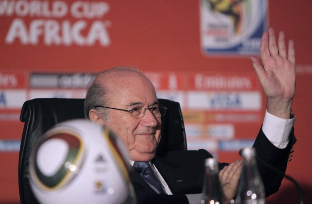 Sepp Blatter 2010 MMi pressikonverentsil