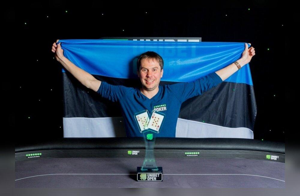 Unibet Open pokkeriturniiri võitja Mauri Dorbek