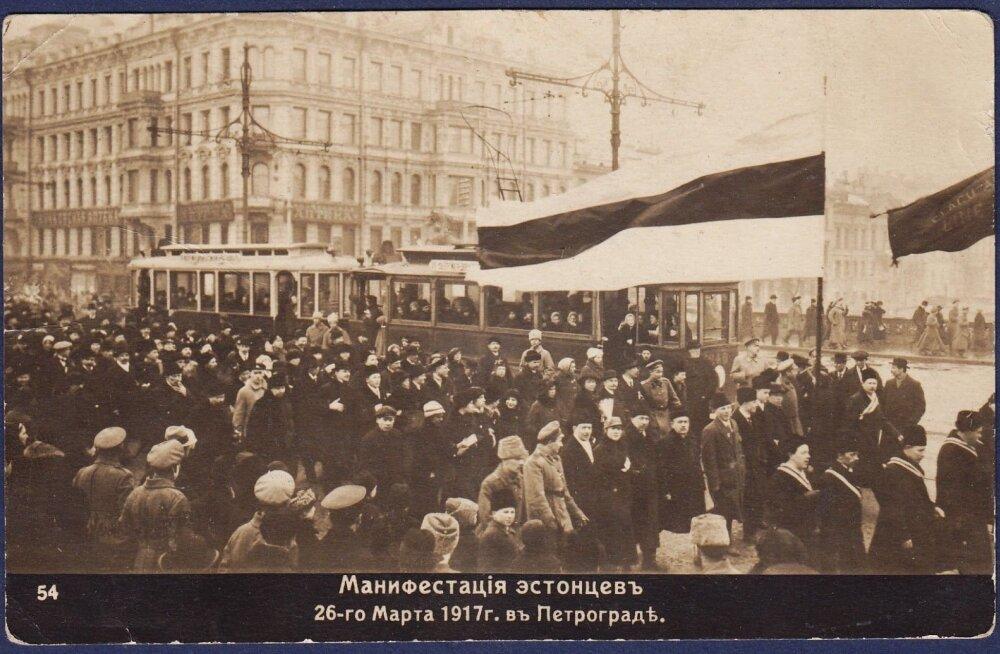 1917: osavõtja kirjeldus eestlaste meeleavaldusest Petrogradis