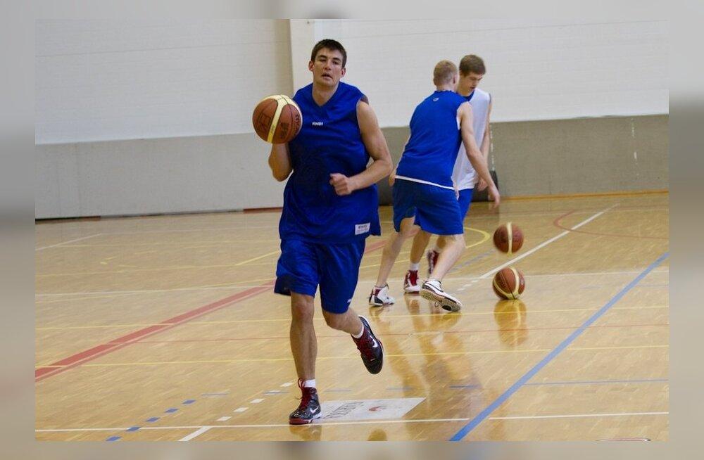 Eesti meeste korvpalli B koondise treening