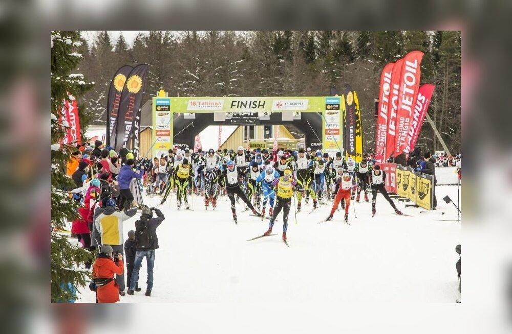 Tallinna suusamaratoni start