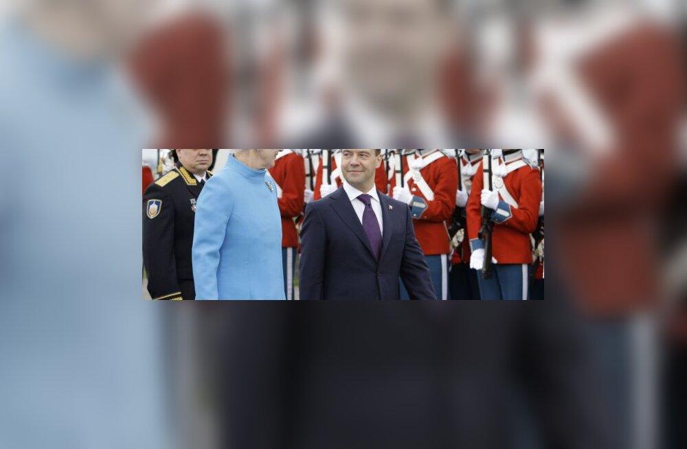 taani kuninganna Margrethe ja Dmitri Medvedev