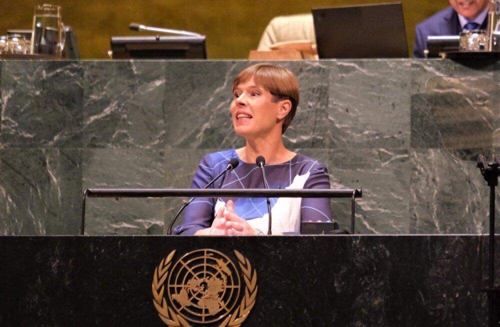 President Kaljulaid ÜROs: kodanikuliikumised sudivad meid kliimakriisiga tegelema