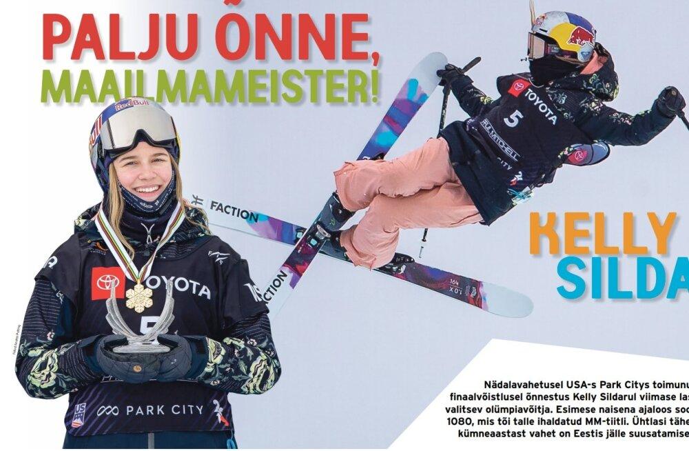 ÜLLATUS | Eesti Päevalehe lugejaid ootab homse lehe vahel maailmameistri Kelly Sildaru plakat!