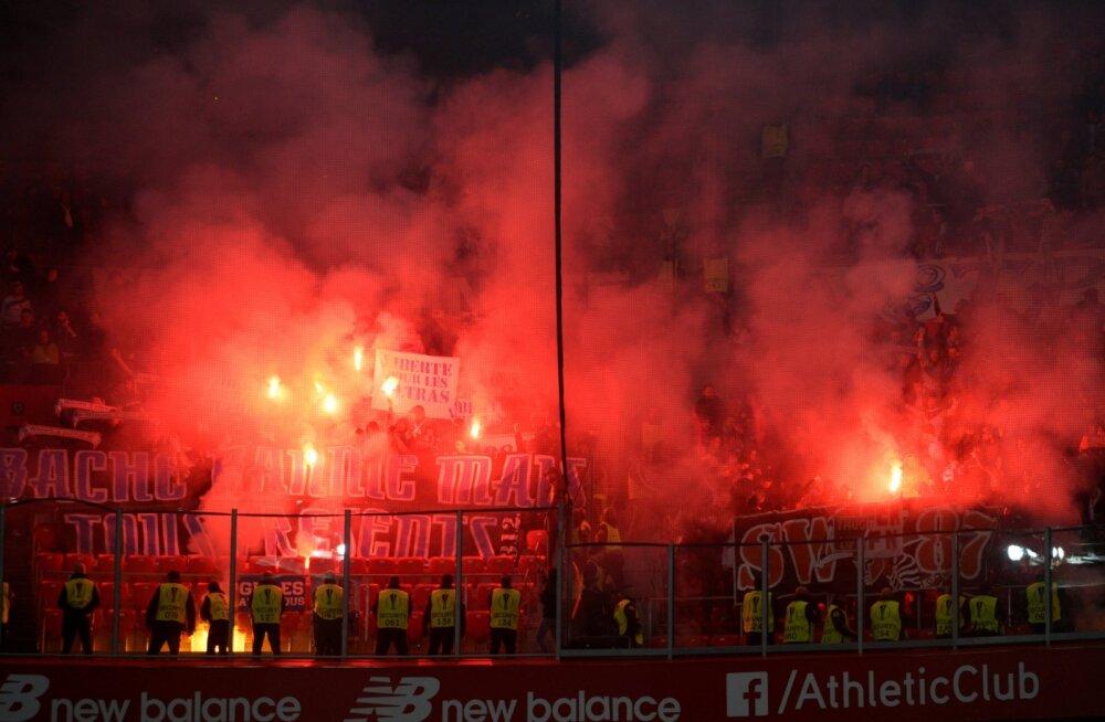 Bilbao staadioni turvameest pussitati Euroopa liiga mängu eel kaela