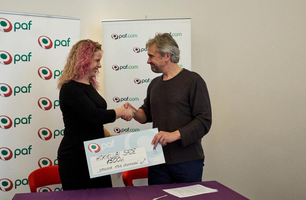 Pafiga sponsorlepingu sõlminud hokiklubi Säde: usaldusväärne toetaja selja taga annab kindlustunde!