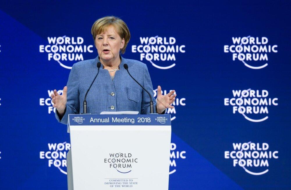 Merkel Davosis: Eesti on digitaliseerimises Saksamaast kaugele ette läinud