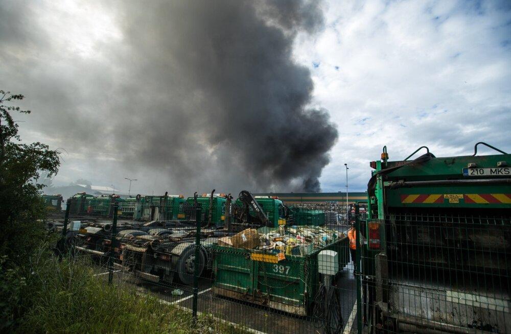 Prügikütuse tootmishoone põleng Suur-Sõjamäel