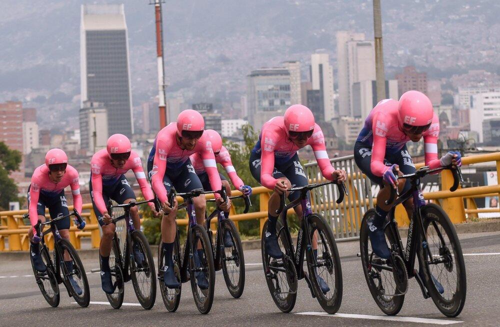 Tanel Kangerti meeskonnakaaslased võidutsesid Colombia tuuri avaetapil