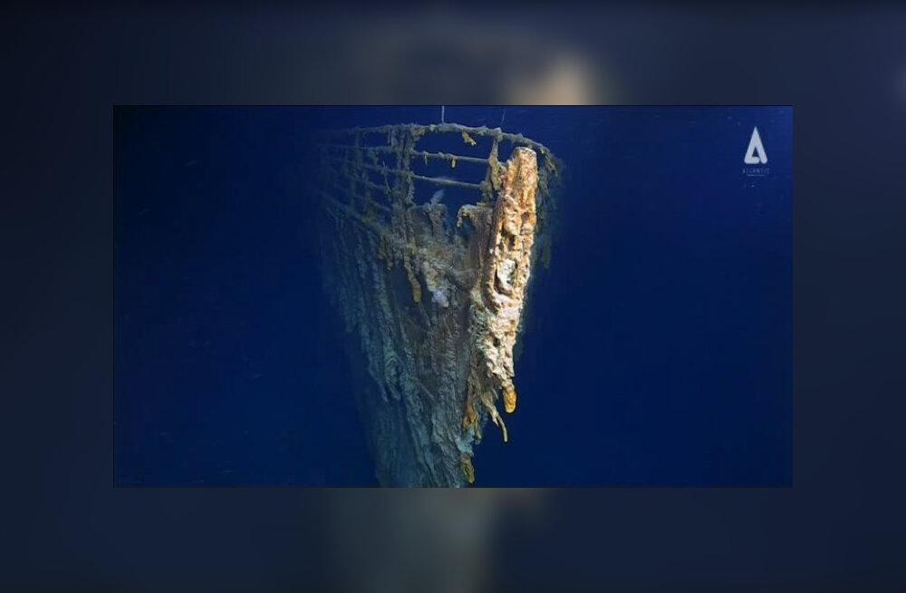 """ВИДЕО: Исследователи спустились к """"Титанику"""". Смотрите, как он сейчас выглядит"""
