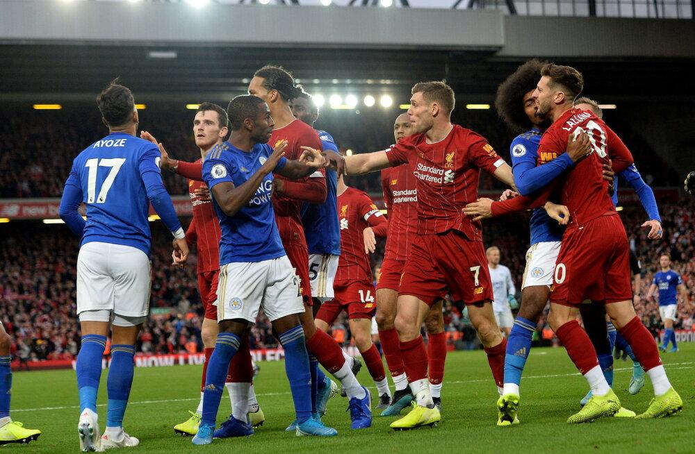 """Игроки """"Ливерпуля"""" и """"Лестера"""" устроили массовую драку после матча"""