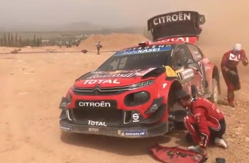 VIDEO | Vaata avariid, mis sai Sébastien Ogier' rallile saatuslikuks