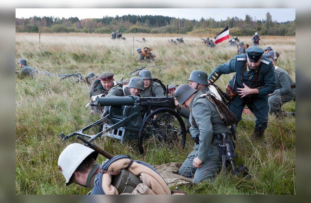 ФОТО: На Сааремаа реконструировали события Первой Мировой войны