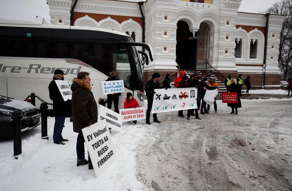 Juhuvedajate protest