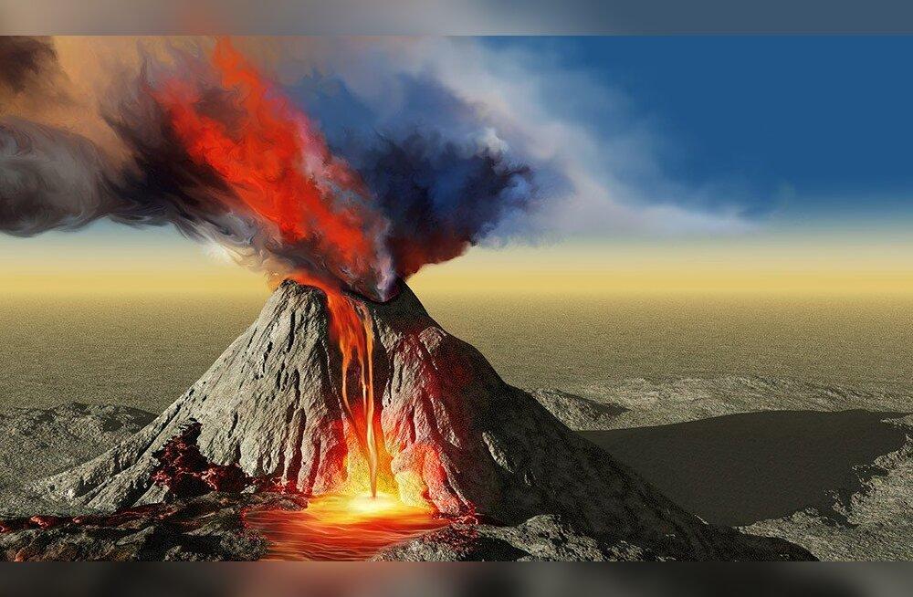 METSIK JÕUD: Vulkaan paiskas kivipuru laiali üle terve mandri