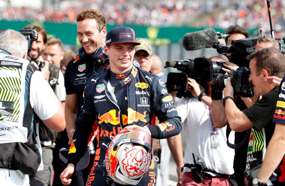 Max Verstappen võitis Budapestis karjääri esimese kvalifikatsiooni