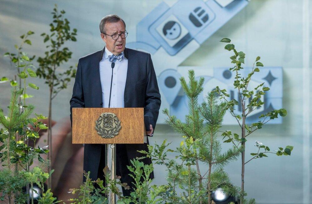 President Toomas Hendrik Ilves Eesti Vabariigi iseseisvuse taastamise aastapäeva vastuvõtu