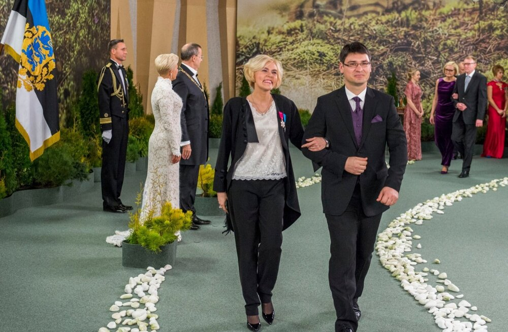 Euroopa Inimõiguste Kohtu kohtunik Julia Laffranque ja Rodolphe Laffranque