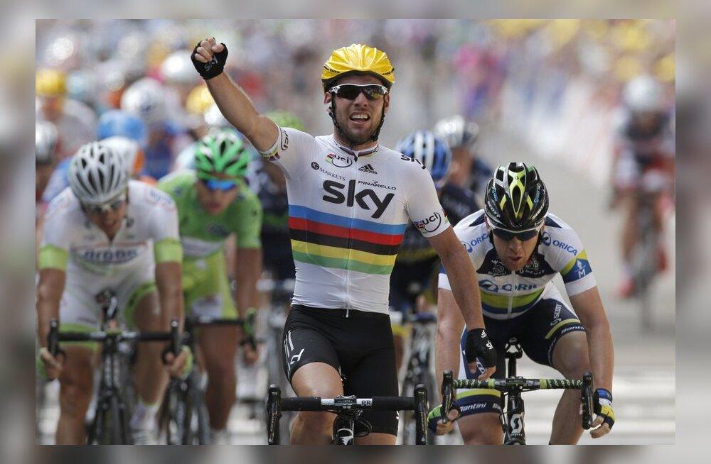 Mark Cavendishi esimene võit 2012. aasta Tour de France´il, jalgratas