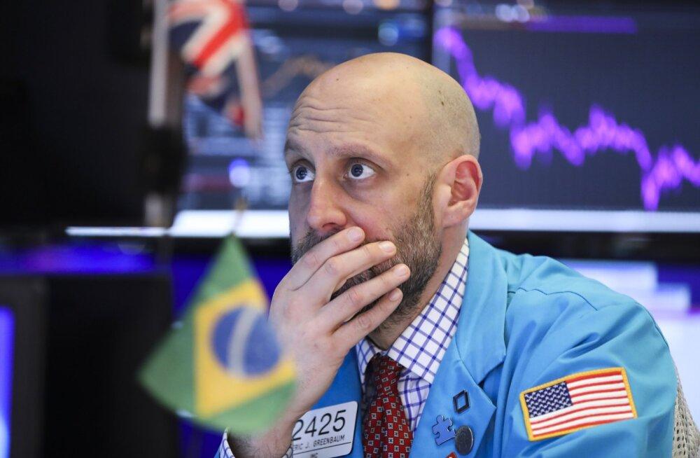 Maakler eile New Yorgi börsil.