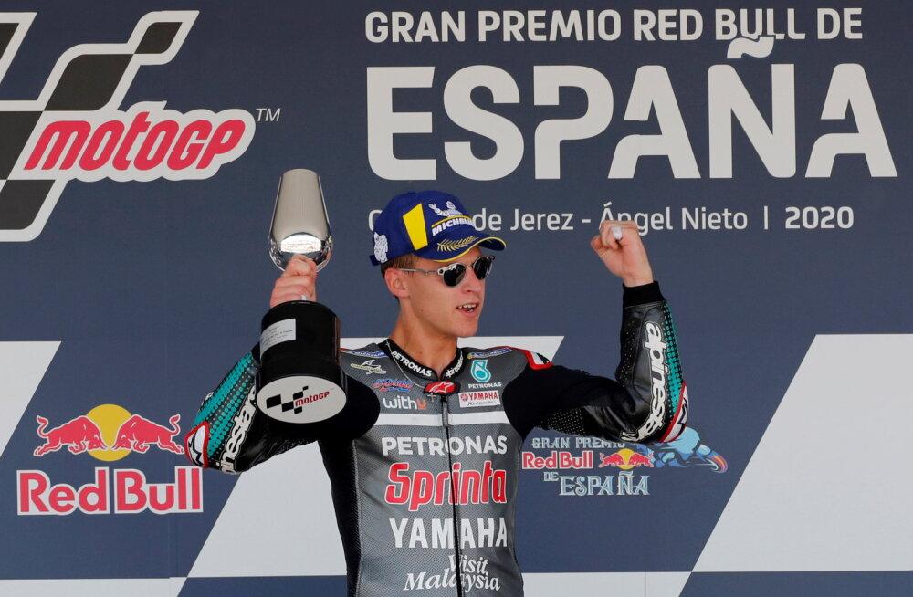 VIDEO | Hispaania etapil võidutses Quartararo, Marquez tegi karmi avarii