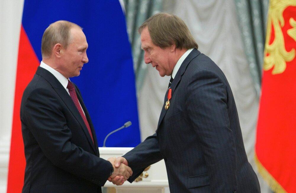 Venemaa president Vladimir Putin (vasakult ) ja Sergei Roldugin.
