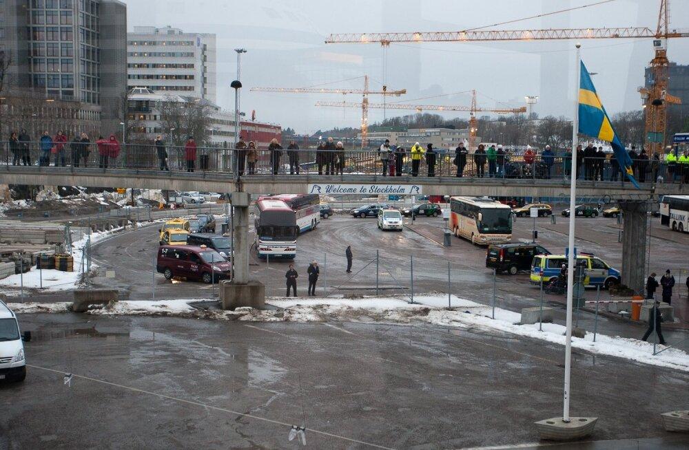 Presidendi saabumine Stockholmi sadamasse
