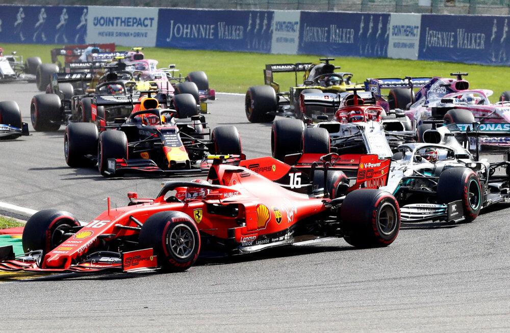 BLOGI | Vormel 1 Belgia GP: Ferrari sai hooaja esimese etapivõidu, Räikköneni võistlus rikuti avakurvis
