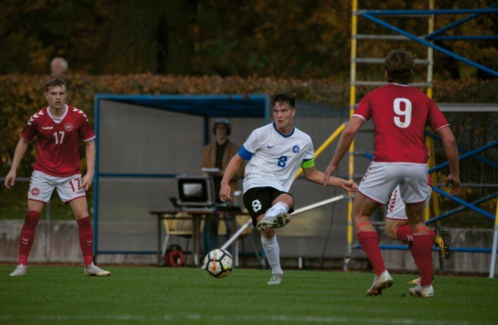 Markus Soomets Eesti U19 koondise kaptenina
