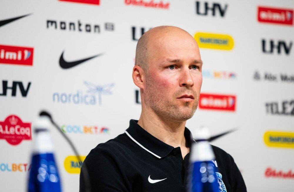 Eesti jalgpallikoondise pressikonverents 06.10.2020