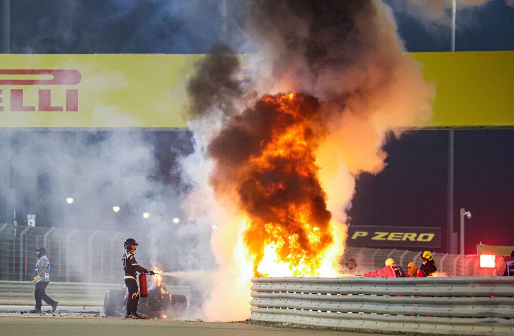 Kohutava avarii teinud Grosjean selle nädala F1 etapil ei stardi