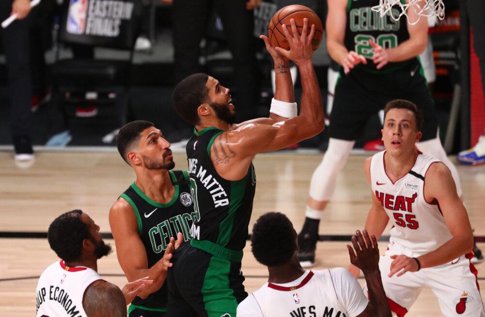 VIDEO | Miami ei suutnud finaalipääsu vormistada, tugeva teise poolaja teinud Boston võitis ellujäämismängu